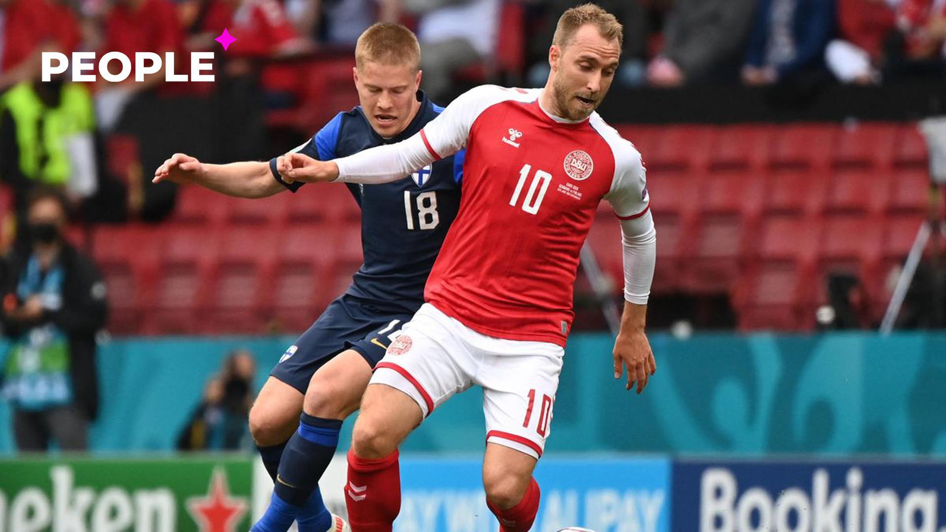 Игрок сборной Дании по футболу упал в обморок во время матча на Чемпионате Европы 2020