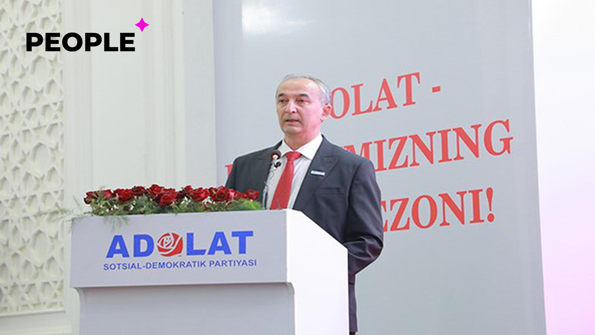 Кандидат от партии «Адолат» пообещал увеличить зарплату учителям и усилить медицину