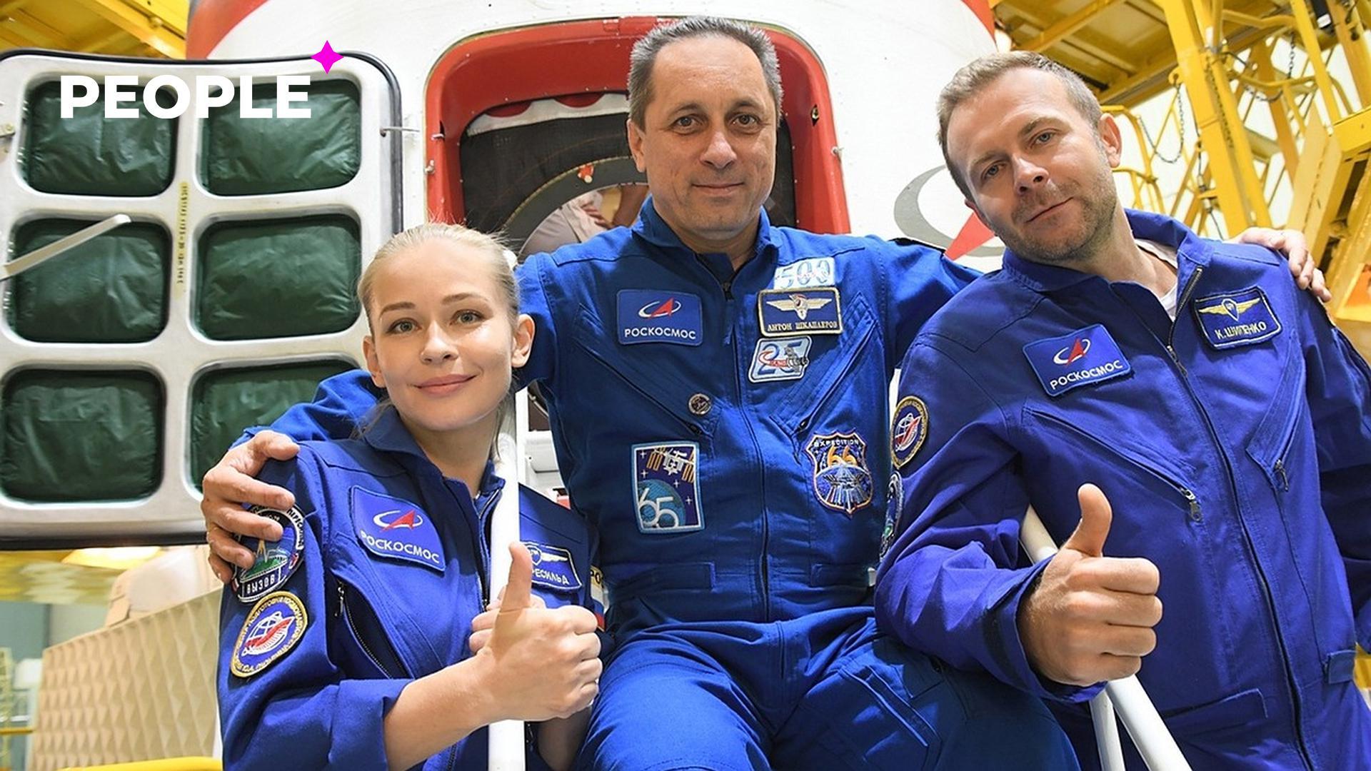 Актриса Юлия Пересильд и режиссер Клим Шипенко отправились в космос для съемок нового фильма — видео